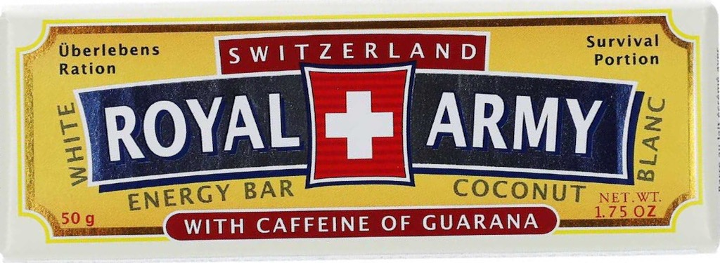Switzerland Royal Army-Chocolate Bar Blanc 50g
