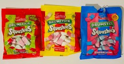 Swizzels Drumstick Squashies Cherry+Apple-Raspberry+Milk-Bubblegum Flavor