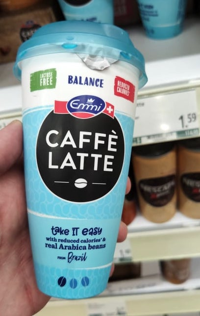 Emmi Balance Caffé Latte Take it easy kalorienreduziert Kunststoffbecher