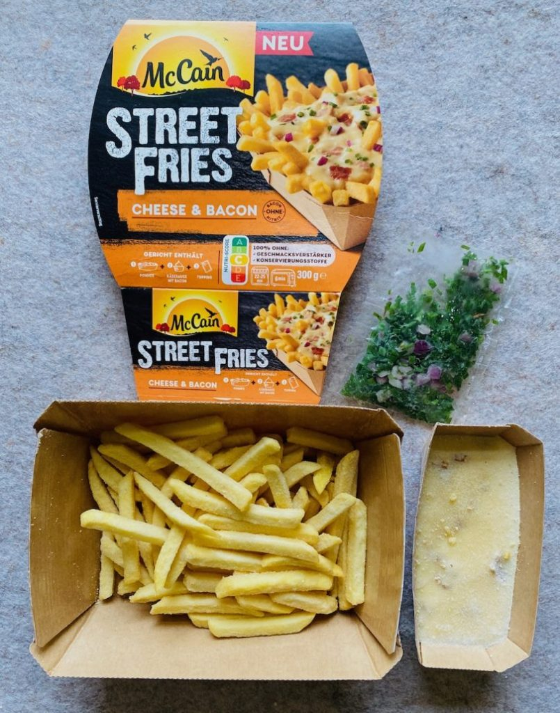 McCain Street Fries Cheese+Bacon unaufgetaut