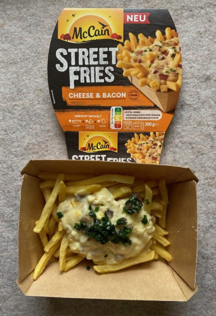 McCain Street Fries Cheese+Bacon zubereitet