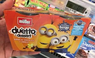 Müller Duetto dessert Minions Italien