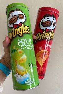Pringles Metalldosen seitlich