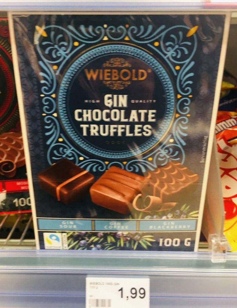 Wiebold GIN ChocolateTruffles Pralinen Gin Sour-Gin Coffee-Gin Blackberry 100G