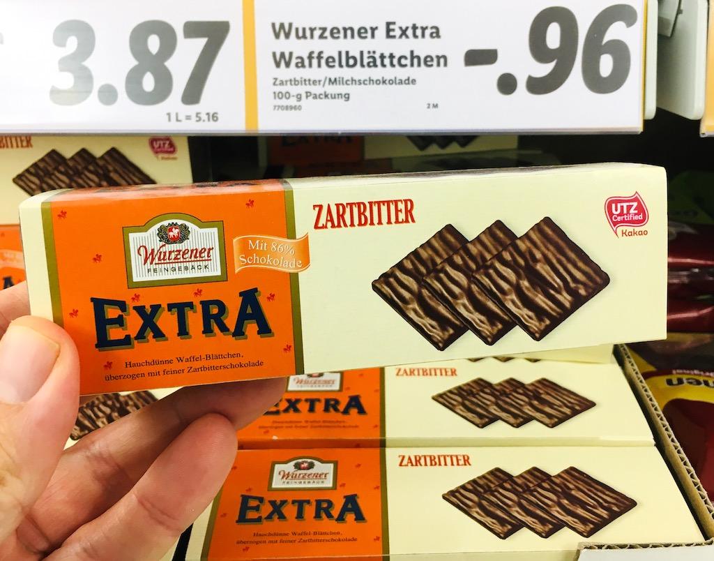 Wurzener Extra Zartbitter Waffel-Blättchen