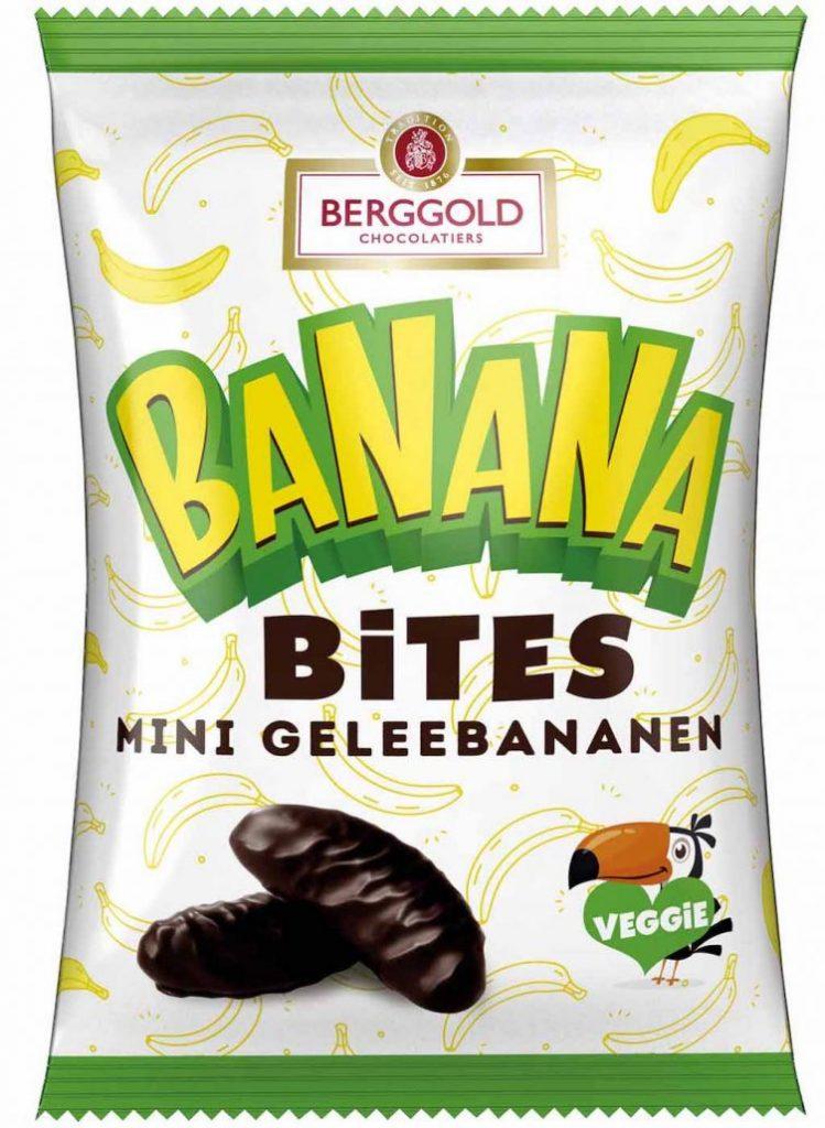 Berggold Banana Bites Mini Geleebananen 150g Tukan-Motiv