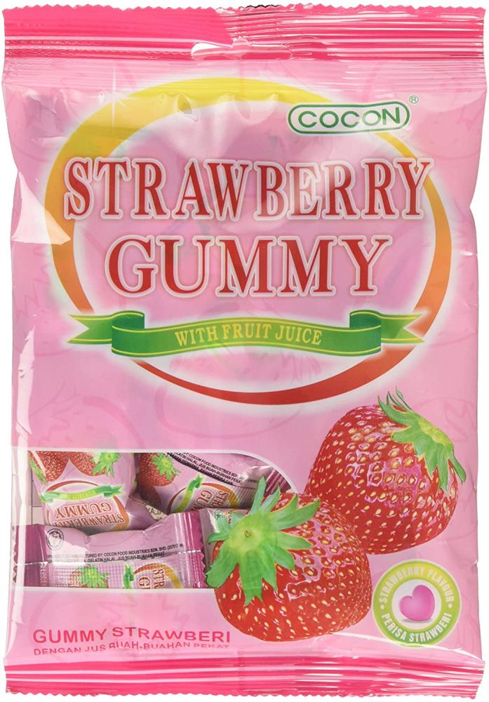 Cocon Gummy Strawberry Jelly Sweets 100g