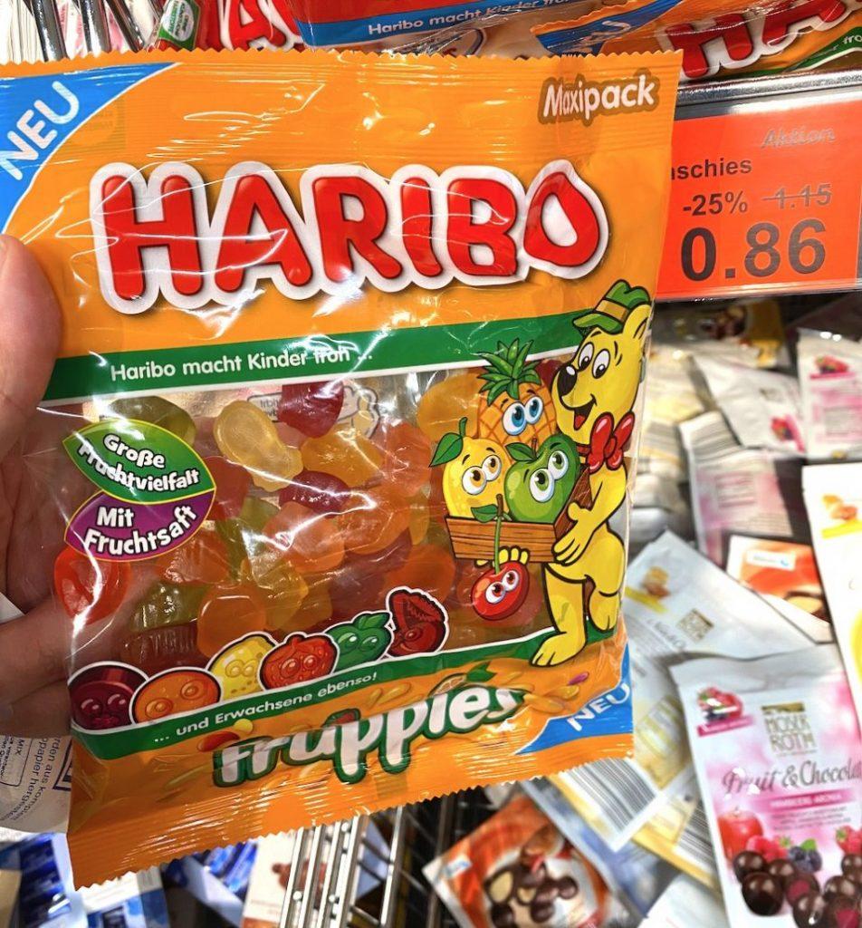 Haribo Fruppies mit Fruchtsaft