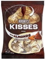 Hershey's Kisses with Almonds Milk Chocoalte 150G