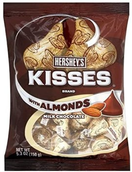 Hershey's Kisses with Almonds Milk Chocoalte 150G