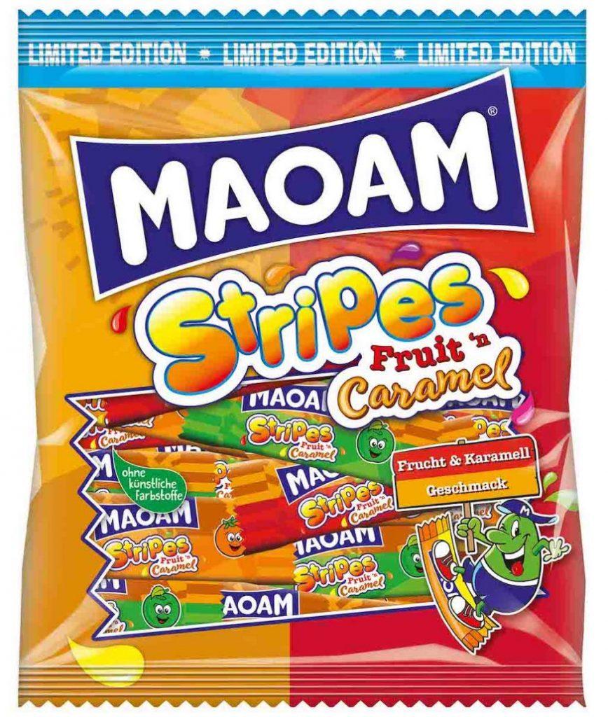 Maoam Stripes Fruit+Caramel 175g