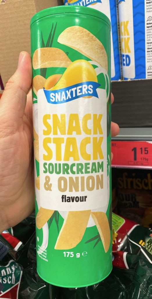 Netto mit Hund Snaxters SnackStack Sourcream+Onion 175G