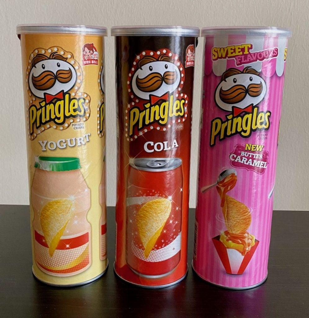 Pringles Asien Süße Sorten Yogurt-Cola-Butter Caramel
