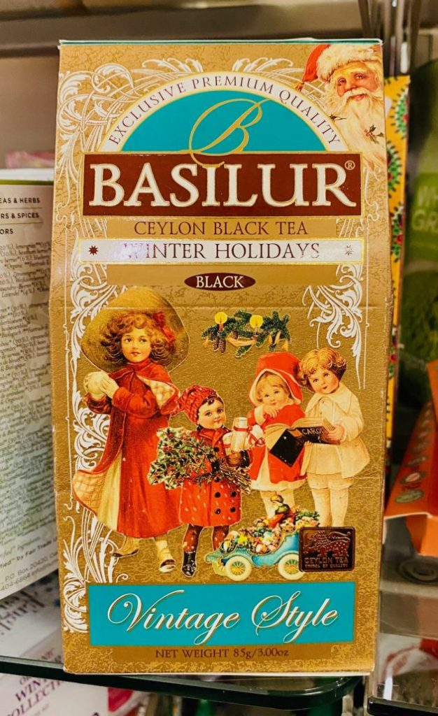 Basilur Ceylon Black Tea Winter Holidays Vintage Style