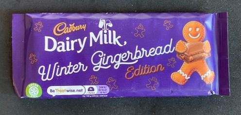Cadbury Dairy Milk Winter Gingerbread Edition