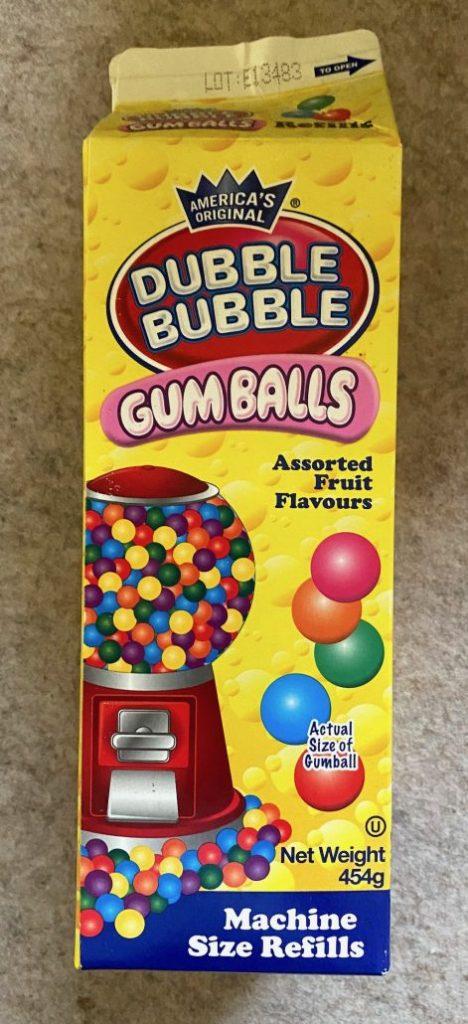 Dubble Bubble Gum Balls Machine Size Refills 454G