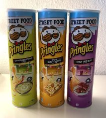 Pringles Street Food Edition Thai Green Curry-Bacon Mac+Cheese-Spicy BBQ Ribs 190G