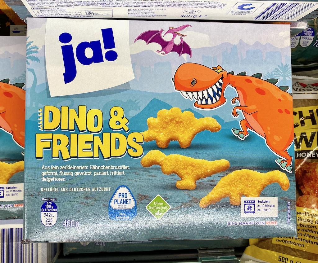 REWE Ja! Dino&Friends Chicken Nuggets 400G TK