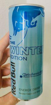 Red Bull Winter Edition Gletschereis-Himeere-Geschmack