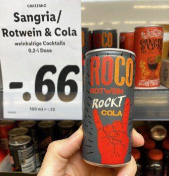 Roco Rotwein Rockt Cola Dose