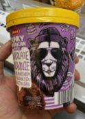 Aldi Mucci Funky American Style Chocolate Brownie Löwe 500ML Pint Eiskrem