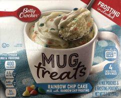 Betty Crocker Mug treats Rainbow Chip Cake Mix mit Dekorstreuseln 4er 394G
