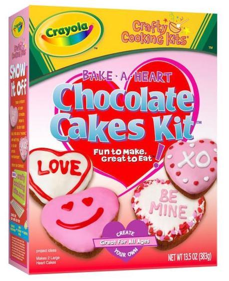 Crafty Cooking Kits Crayola Bake a Heart Chocolate Cakes Kit 383G