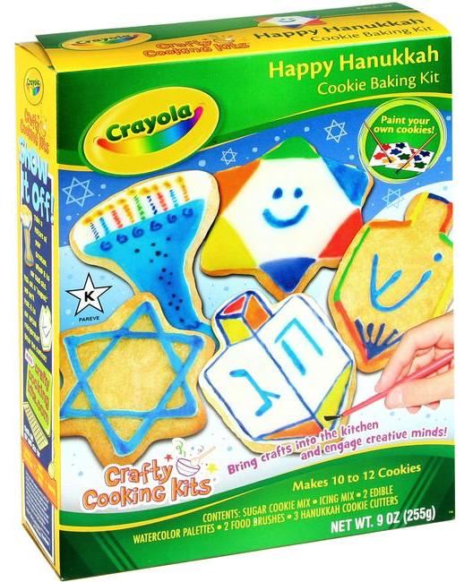 Crafty Cooking Kits Crayola Happy Hanukkah Cookie Baking Kit 255G