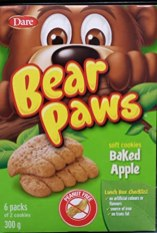 Dare Bear Paws Soft Cookies Baked Apple 6er 300G