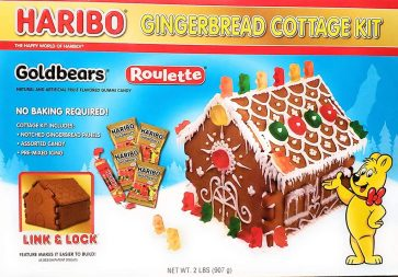 Haribo Gingerbread Cottage Kit Goldbears Roulette 907G