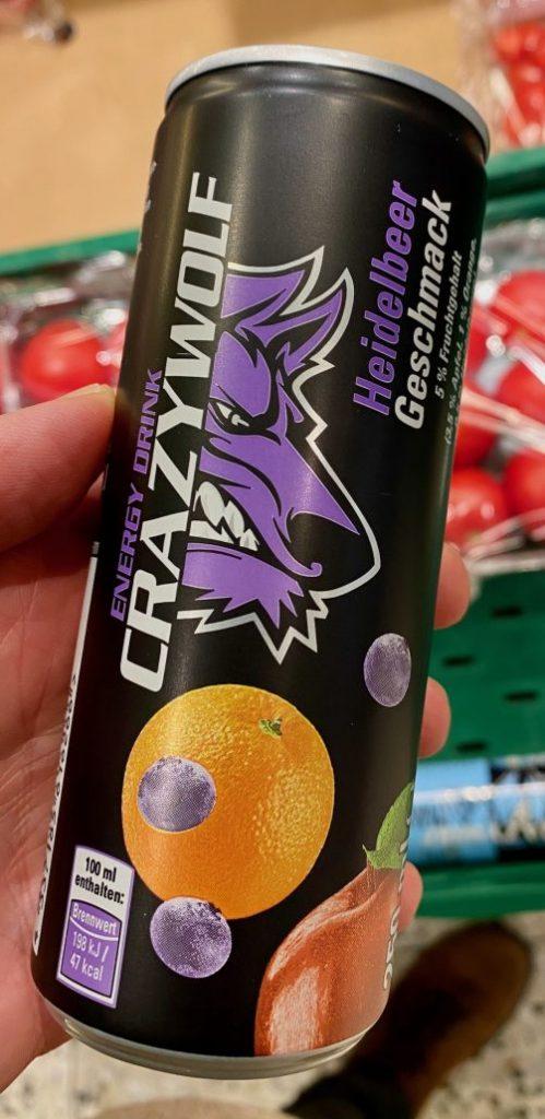 Kaufland Crazy Wolf Heidelbeer-Geschmack Energydrink