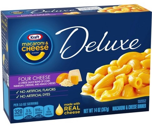 Kraft Mac+Cheese Deluxe Edition Four Cheese 397G