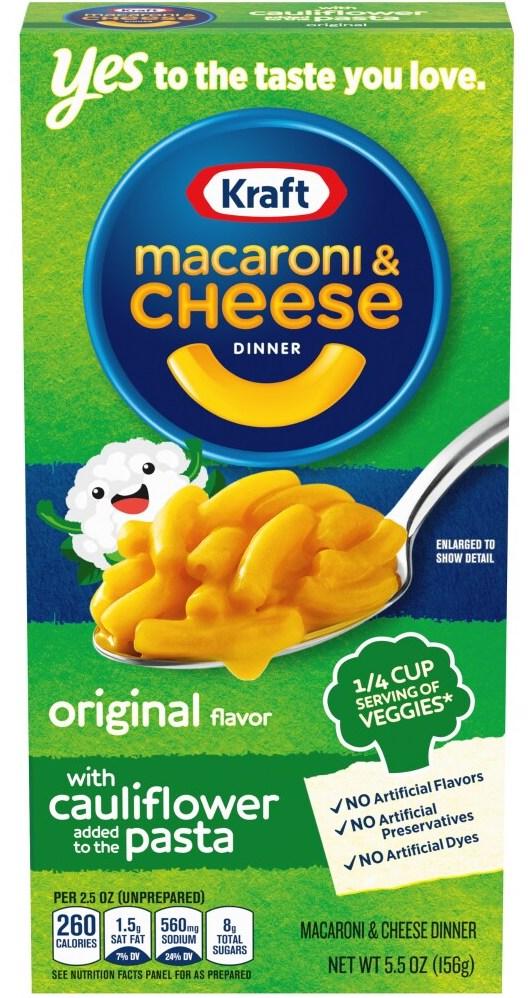 Kraft macaroni+Cheese Dinner mit Pasta aus Blumenkohl 156G