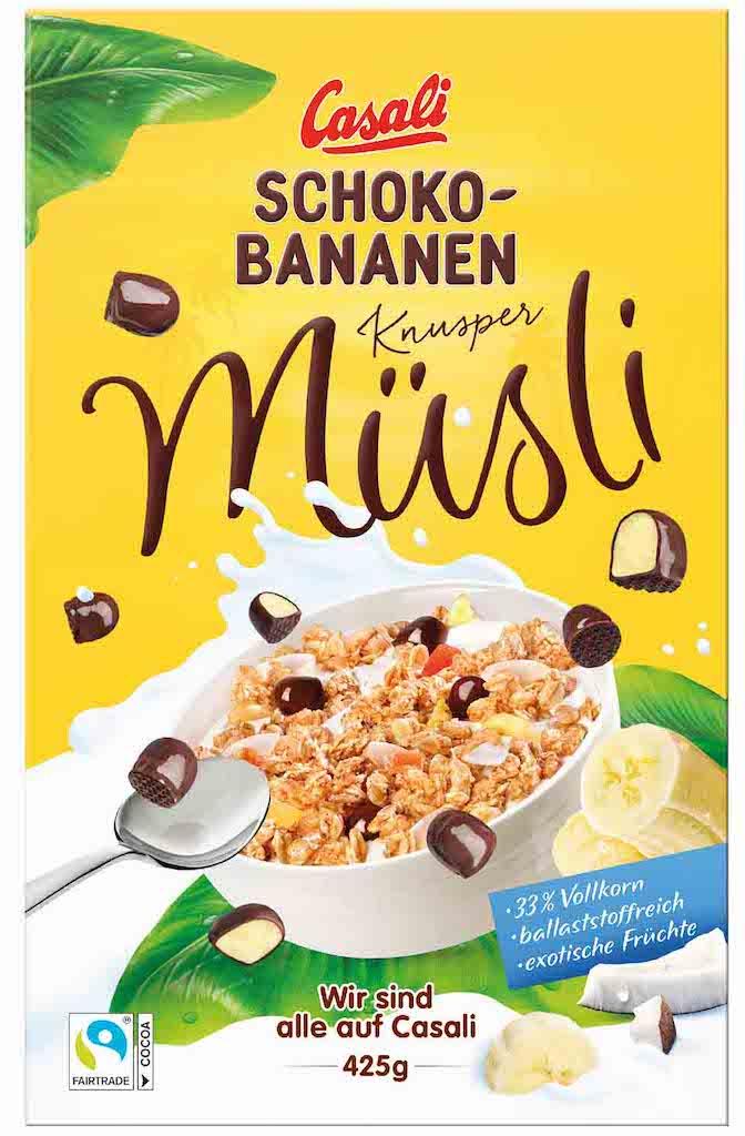 Manner Casali Schoko-Bananen-Müsli