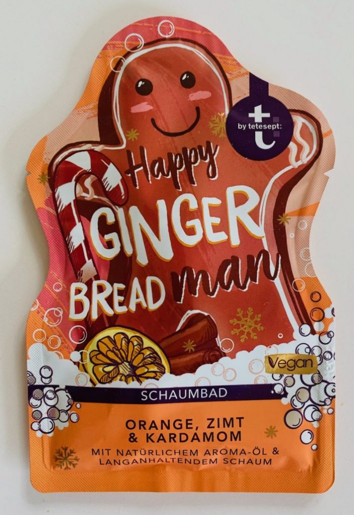 tetesept Happy Ginger Breadman Schaumbad Orange-Zimt-Kardamom Badezusatz