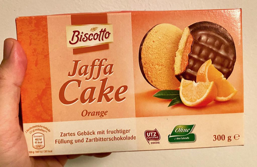 Aldi Biscotto Jaffa Cake Orange 300G