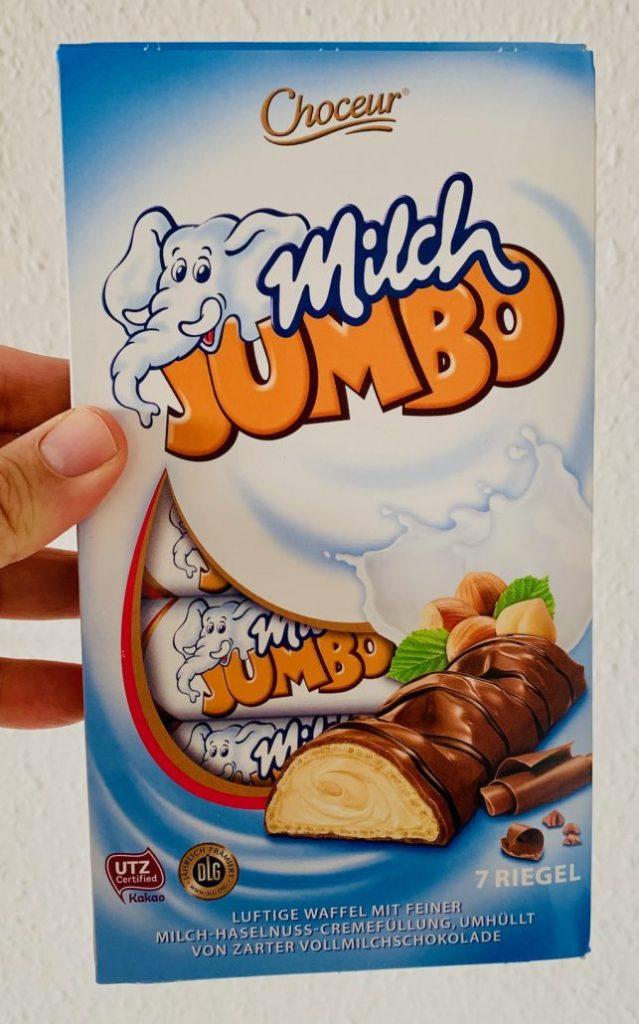 Aldi Chcoceur Milch-Jumbo 7 Riegel Bueno-Nachahmung