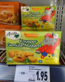 Avita Benjamin Blümchen Knusper-Gemüse-Nuggets vegetarisch 255G Tiefkühl