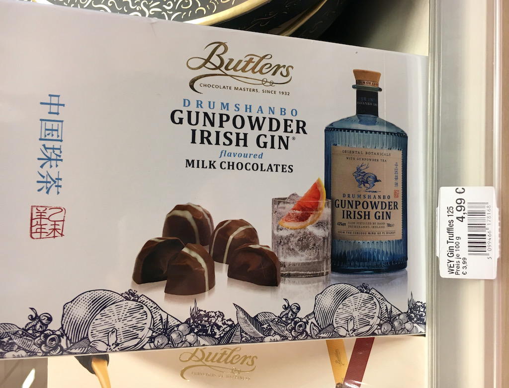 Butlerse Drumshanbo Gunpowder Irish Gib flavoured Milk Chocolates Trüffelpralinen 125G