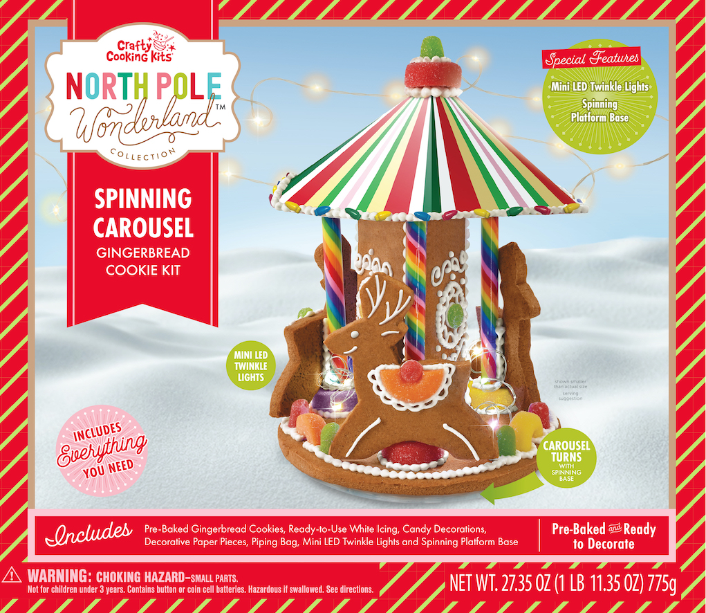 Crafty Cooking Kits North Pole Wonderland Spinning Carousel 775G