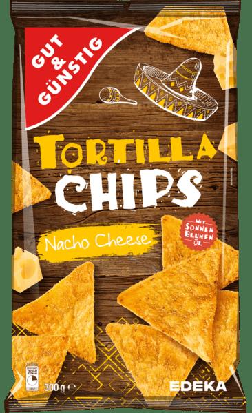EDEKA Gut+Günstig Tortilla Chips Nacho Cheeese 300G
