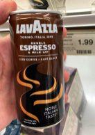 Lavazza Double Espresso +Milk Iced Coffee Noble Italian Taste Dose