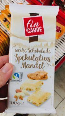 Lidl finCarré Weiße Schokolade Spekulatius Mandel 100G