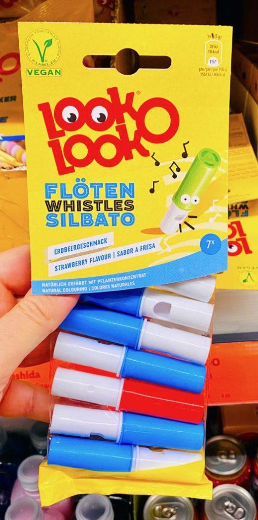 Look-O-Look Flöten Whistles Silbato Erdbeergeschmack 7er