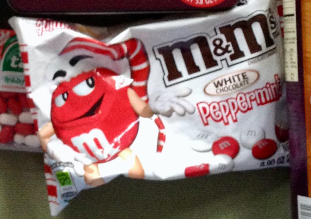 M+M White Chocolate Peppermint
