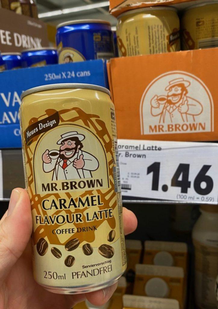 Mr Brown Caramel Flavour Latte Coffee Drink 250ML