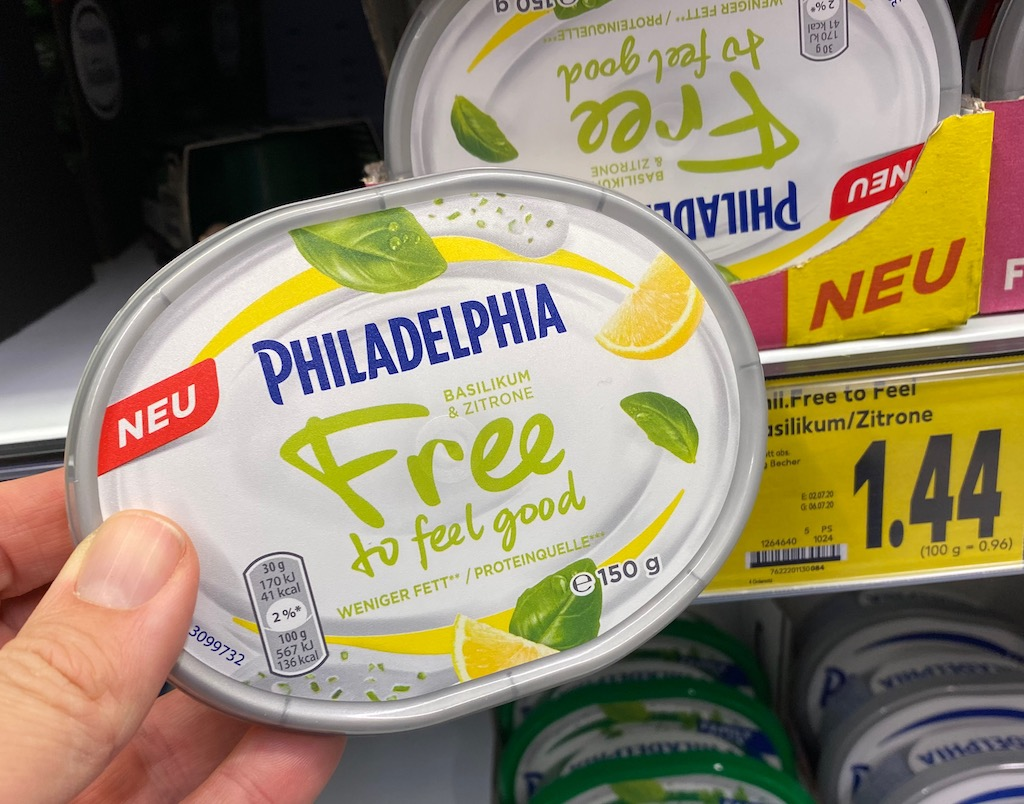 Phildelphia Free to feel good 150G Basilikum-Zitrone
