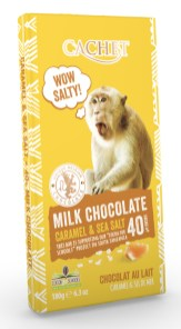 Cachet Milk Chocolate Caramel+Sea Salt 180G Affenmotiv