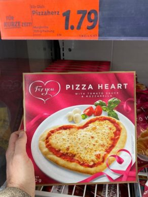 Lidl For You Pizza Heart 300G