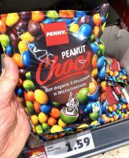 Penny Peanut Chocos Bunt dragierte Erdnusskerne in Milchschokolade